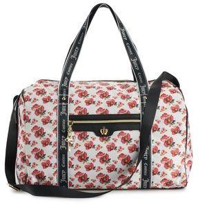 Juicy Couture weekender white varsity bag NEW